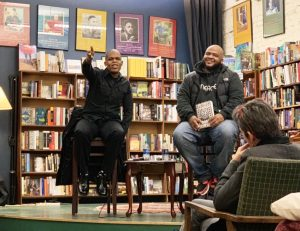 efa64cadfb3 Authors Maurice Carlos Ruffin and Kiese Laymon speak to a crowd at Off  Square Books on Friday. Ruffin discussed his new novel