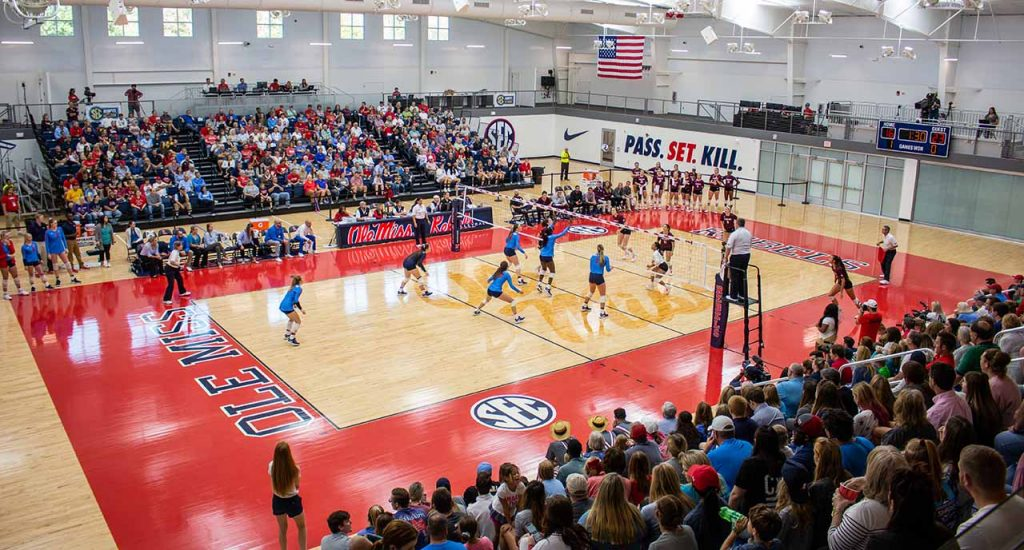 Rebels' historic win streak ends with controversial fifth set vs. Texas A&M