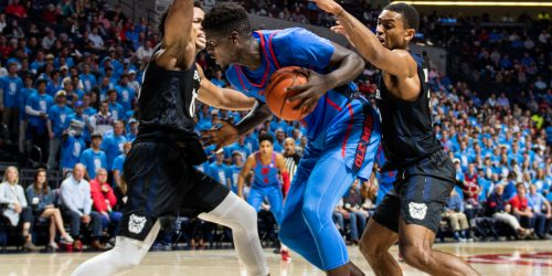 Khadim Sy had 12 points in the 67-58 loss to Butler on Tuesday in Oxford. Ole Miss will play Cal State Bakersfield in Oxford on Saturday. File Photo by Billy Schuerman.